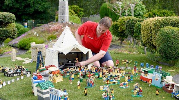 Legoland have built a model Glastonbury